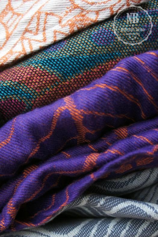 Dio osobne kolekcije tkanih marama za nošenje beba i djece