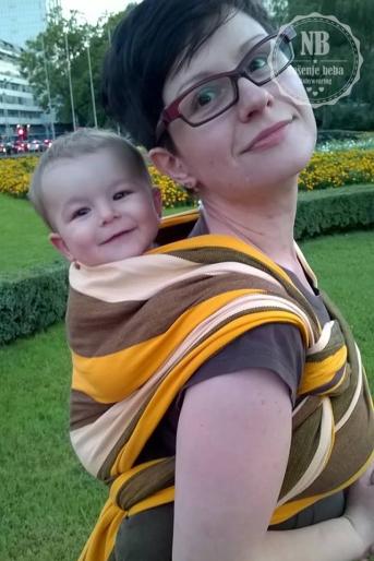 Sa sinom u vezu ruksak u marami Hoppediz Havana