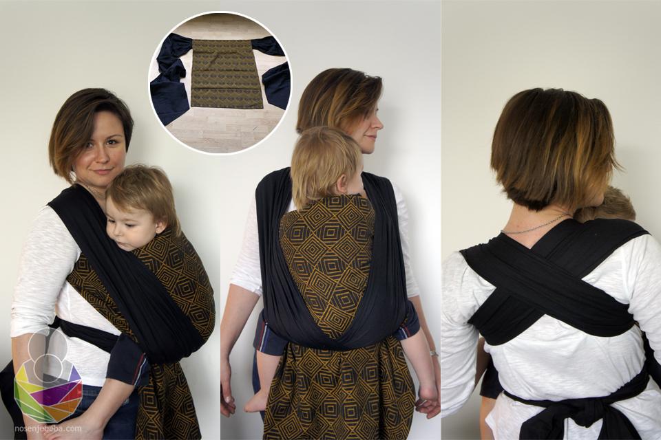 Podegi s panelom od tkane marame i širokim plisiranim ravnim naramenicama iz splitske radionice Tabita.