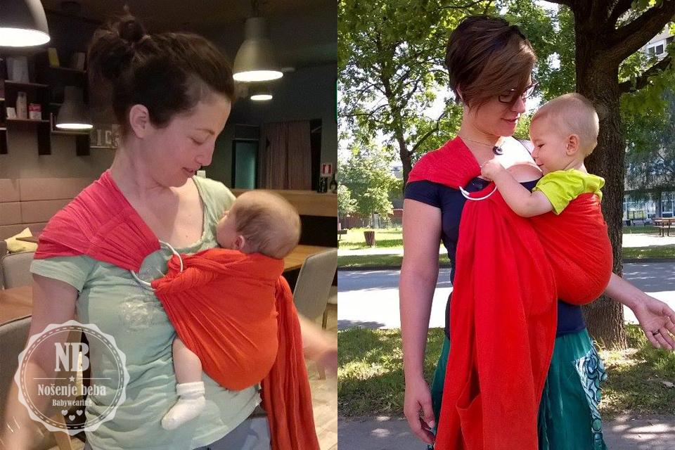 Sling: nosiljka od rođenja do treće godine.