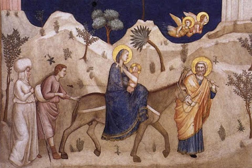 U čemu je nošen Isus? Srednjovjekovni prikaz Svete obitelji možda odgovori na to pitanje: anonimni umjetnik je prikazao nošenje Isusa u šalu ili marami u tradicionalnom vezu.