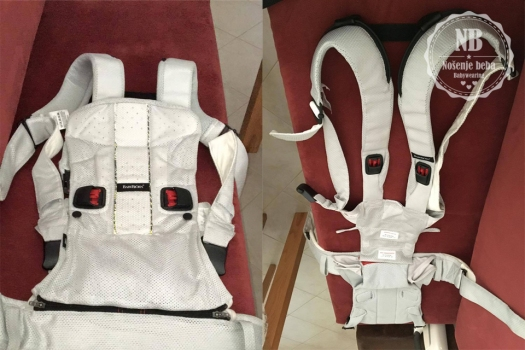 BABYBJÖRN One s neodvojenim panelom (lijevo) i panelom odvojenim od konstrukcije (desno).