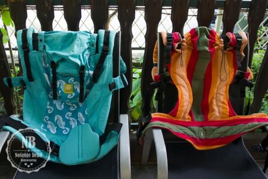 LÍLLÉbaby CarryOn Seahorse (Toddler) i LennyLamb Summer (Baby)