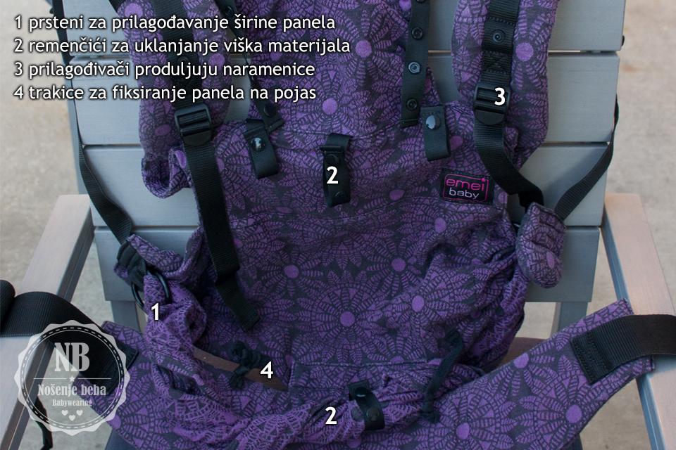 Značajke Emeibaby hibridne nosiljke