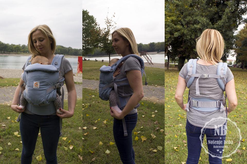 ERGObaby ADAPT sa sitnom mamom i bebom od 3.5 mj.