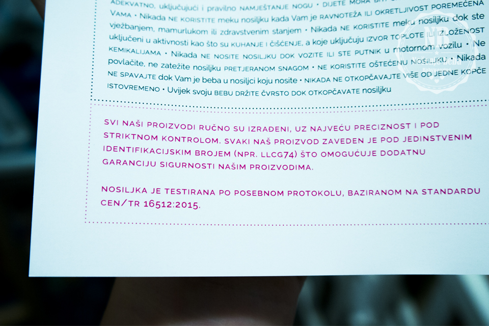 Dio uputauz prvu hrvatsku testiranu meku oblikovanu nosiljku LocoLobo Click&Go.