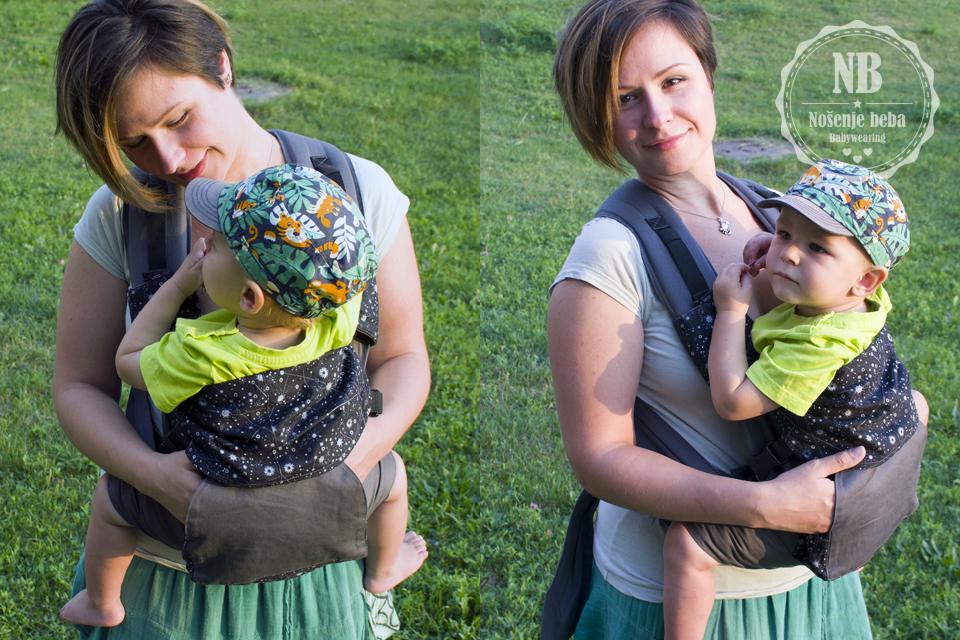 LocoLobo mei tai je nosiljka pogodna za nošenje od 4. mjeseca starosti bebe, tj. kad dobro ovlada mišićima glave i vrata.