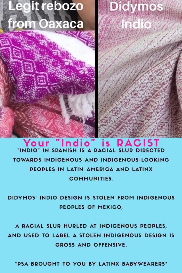 """Letak koji se društvenim mrežama počeo širiti iz Fb grupe CCBW Reviews. Članice te grupe uče Latinoamerikance da je izraz """"Indio"""" za njih uvredljiv."""