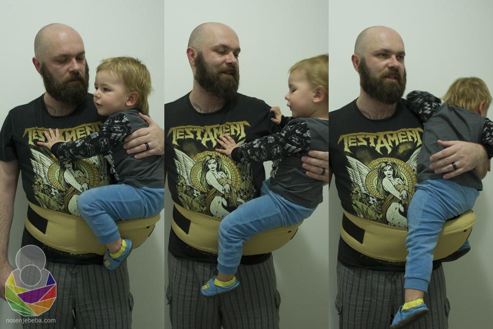 Muž pokušava pridržavati našeg sina koji ima drugačije ideje. :D
