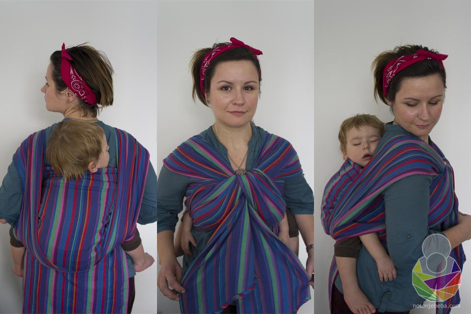 Gotovo sve ukrasne završetke koje možete zamisliti sa tkanom maramom možete izvesti i s podegijem. Podegi je ovdje vezan na tradicionalniji način.