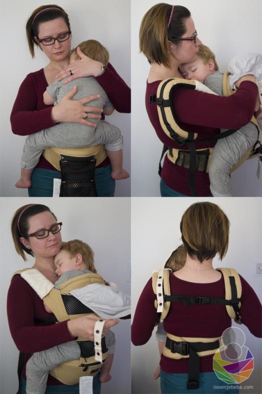 """Isprobavanje manjeg """"baby size"""" modela nosiljke s mojim dvogodišnjakom koji je """"toddler"""" veličine."""