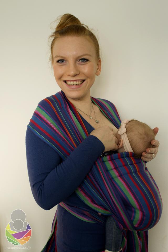 Mama Kika i Vita (3 mj.) isprobavaju Tabitin podegi: prvi put u podegiju i dojenje? Zašto ne!