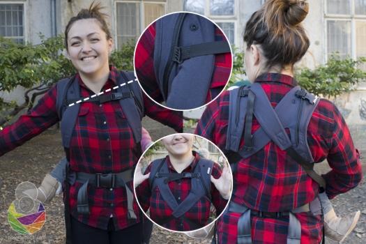 Mada to nije navedeno u uputama Kristina je pokušala i križati naramenice kako bi joj nošenje na leđima u SLIM modelu bilo udobnije.
