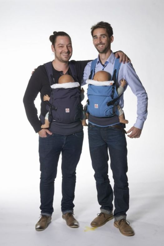 2014. Henner-Moritz Jahn (lijevo) i Urs Brettel predstavljaju se na velikom međunarodnom sajmu Kind + Jugend sa svojim startupom Die Berlin Baby GmbH i oduševljavaju inovativnim dizajnom.